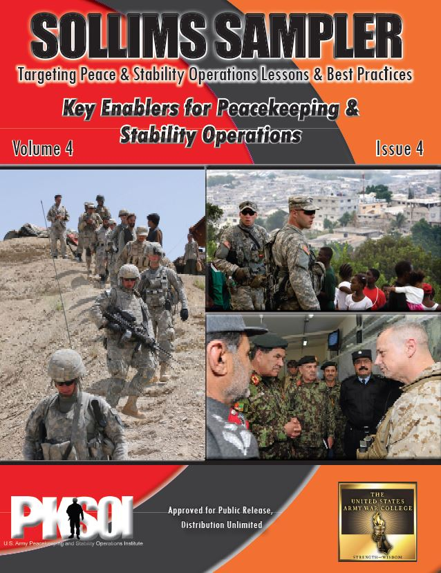 SOLLIMS Sampler - Key Enablers for Peacekeeping & Stability Operations