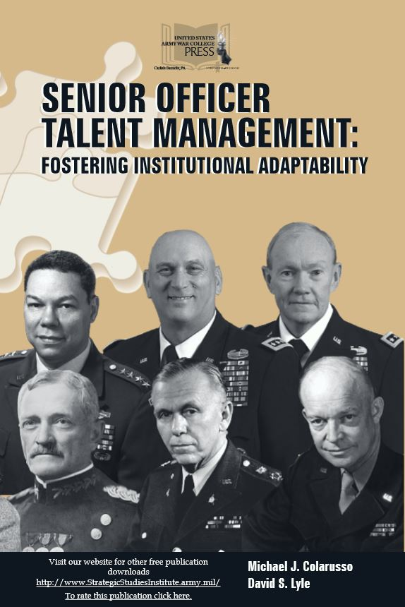 Senior Officer Talent Management: Fostering Institutional