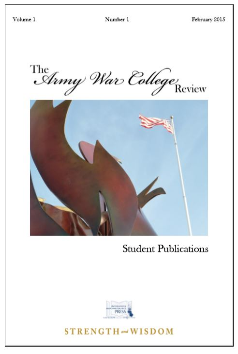 The Army War College Review Vol. 1 No.1