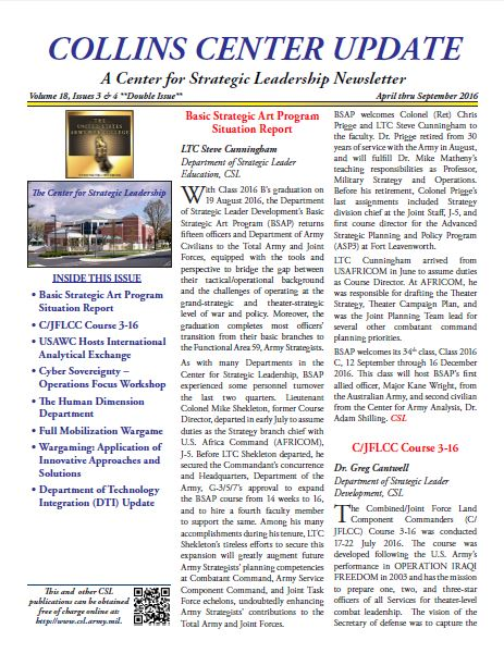Collins Center Update, Volume 18, Issues 3 & 4