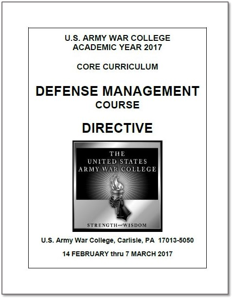 AY17 Defense Management Directive
