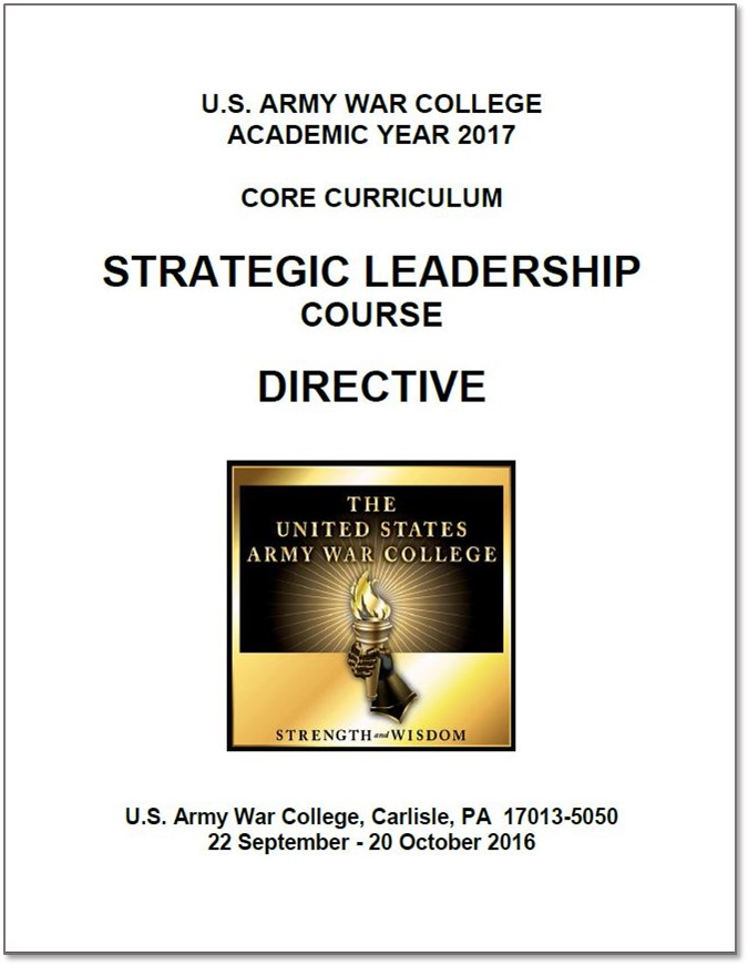 AY 17 Strategic Leadership Course Directive