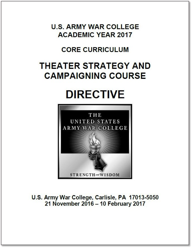 AY17 Theater Strategy and Campaigning Course Directive