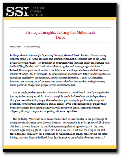 Strategic Insights: Letting the Millennials Drive
