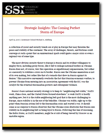 Strategic Insights: The Coming Perfect Storm of Europe