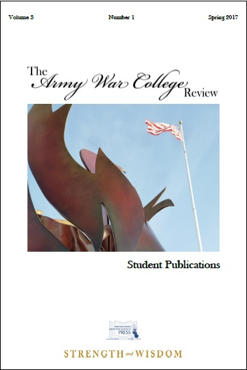 The Army War College Review Vol. 3 No. 1