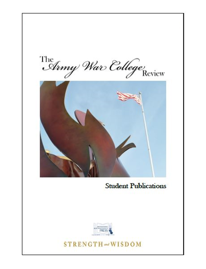 The Army War College Review Vol. 2 No. 1