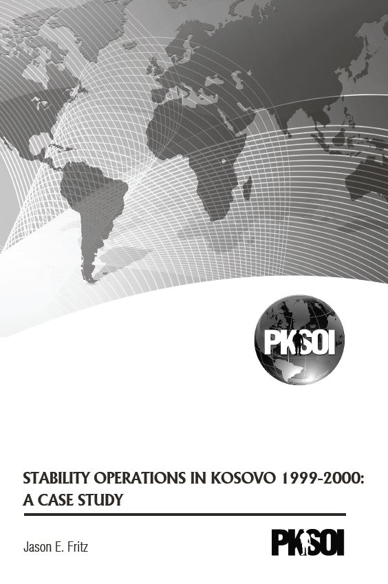 Stability Operations in Kosovo 1999-2000: A Case Study
